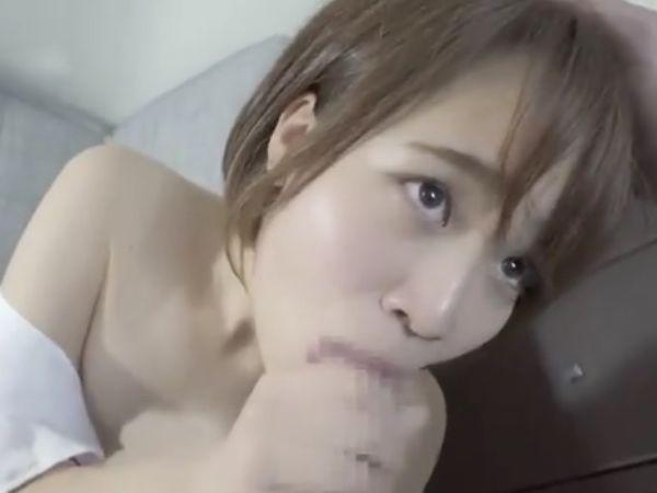 【素人JKフェラ抜き】『アン…超濡れてきたから口でしていい♡』手コキだけのはずがまさかのフェラ抜きに神発展したリアル投稿動画