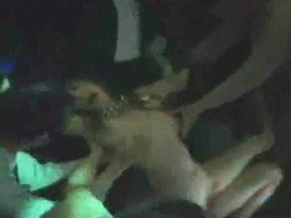 【本物レイプ】ヤリサー主催のクラブPARTYで調子に乗ってるパリピギャルをひん剥き輪姦…爆音の中絶叫するJKに強制中出し!